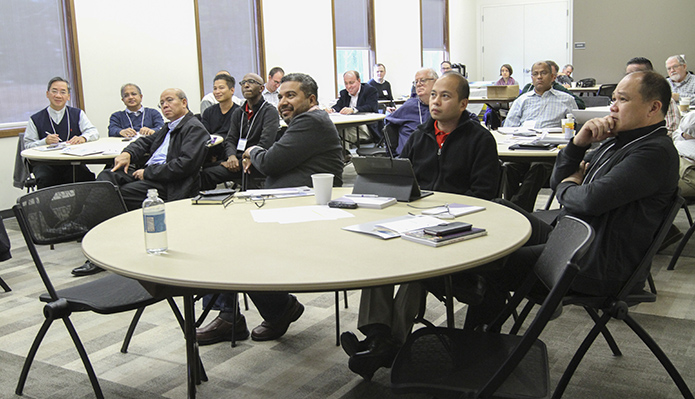 Ten of the nearly 30 priests attending the Toolbox for Pastoral Management, Nov. 13-17, were from the Atlanta Archdiocese. The others were from Florida, North Carolina, South Carolina, New Jersey and New York. Photo By Michael Alexander
